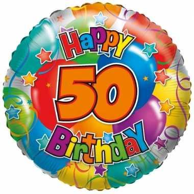 Folie ballon 50 happy birthday 35 cm