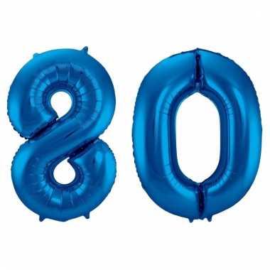 Folie ballon 80 jaar 86 cm