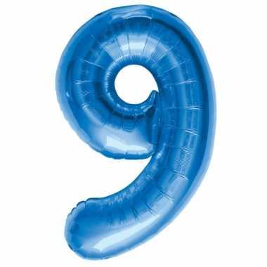 Folie ballon 9 jaar 86 cm
