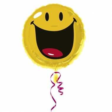 Folie ballon gevuld met helium smiley