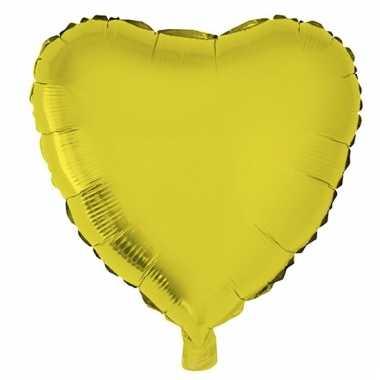 Folie ballon gouden hart 52 cm