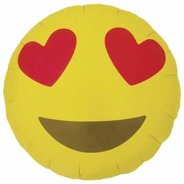 Folie ballon hart smiley 46 cm