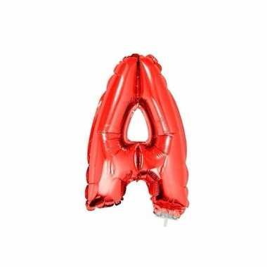 Folie ballon letter a rood 41 cm
