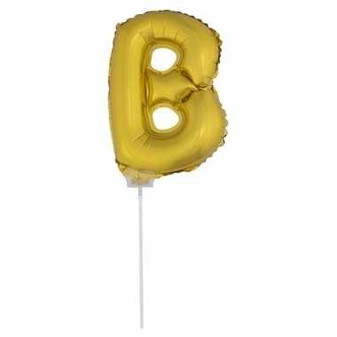 Folie ballon letter b goud 41 cm