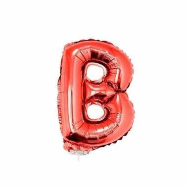 Folie ballon letter b rood 41 cm