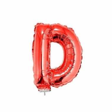 Folie ballon letter d rood 41 cm