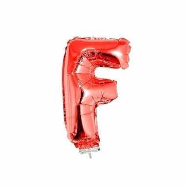 Folie ballon letter f rood 41 cm