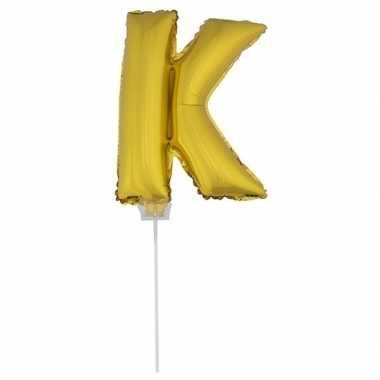 Folie ballon letter k goud 41 cm