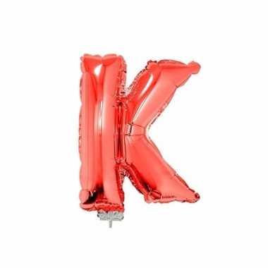 Folie ballon letter k rood 41 cm