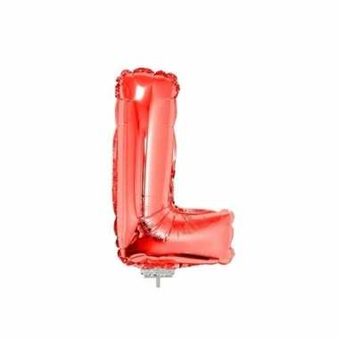 Folie ballon letter l rood 41 cm