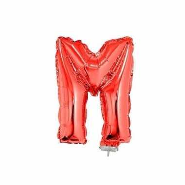 Folie ballon letter m rood 41 cm