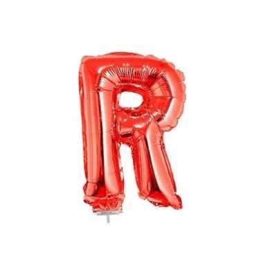 Folie ballon letter r rood 41 cm