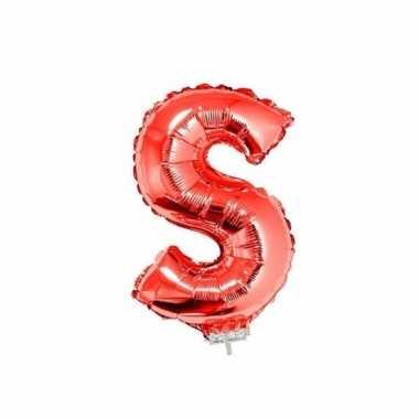 Folie ballon letter s rood 41 cm