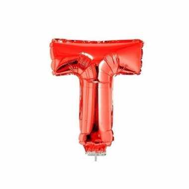 Folie ballon letter t rood 41 cm
