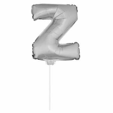 Folie ballon letter z zilver 41 cm