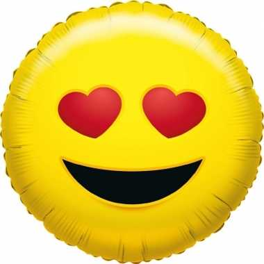 Folie ballon liefdes smiley 35 cm
