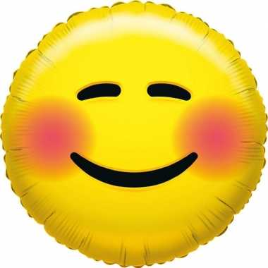 Folie ballon schaam smiley 35 cm