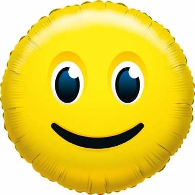 Folie ballon smiley glimlachend 35 cm