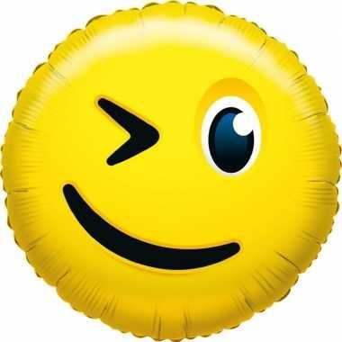 Folie ballon smiley knipoogje 35 cm