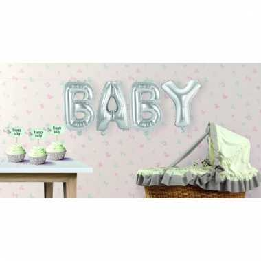 Folie ballonnen baby geboren