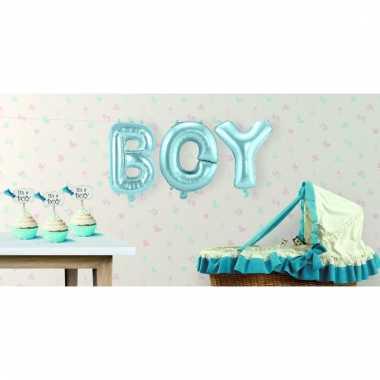 Folie ballonnen boy jongen geboren