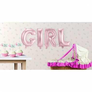 Folie ballonnen girl meisje geboren