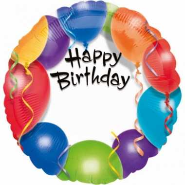 Folie ballonnen happy birthday 45 cm
