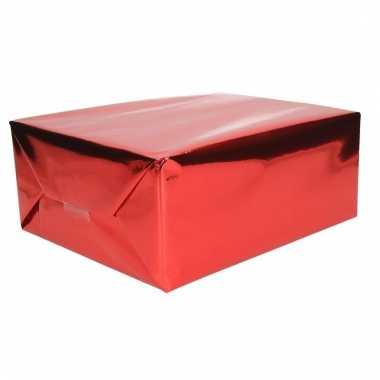 Folie kadopapier rood metallic