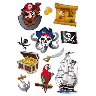 Folie stickers diverse piraterij 1 vel