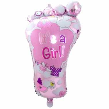 Folieballon its a girl 70 cm
