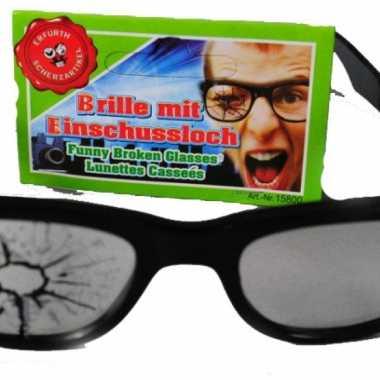 Fop bril kapot glas
