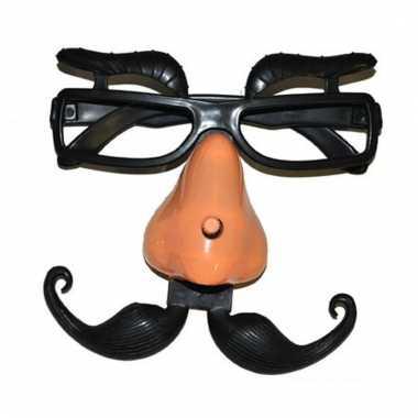 Fop bril met neus en wenkbrauwen