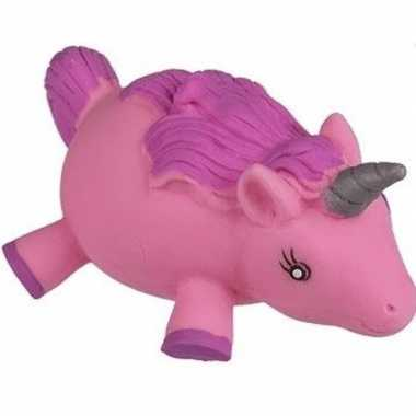 Fop squeezy / stressbal roze eenhoorn