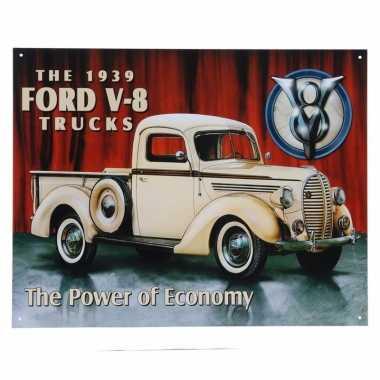 Ford v-8 truck modellen wandplaat 32 x 41 cm