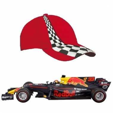 Formule 1 speelgoedwagen max verstappen 1:43 met rode pet