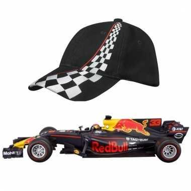 Formule 1 speelgoedwagen max verstappen 1:43 met zwarte pet