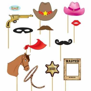 Foto prop setjes cowboy 12 delig