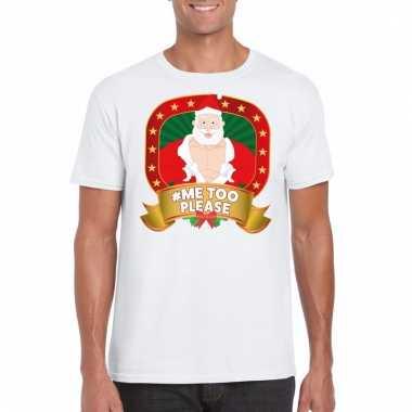 Foute kerst shirt wit hashtag me2 discusie voor heren