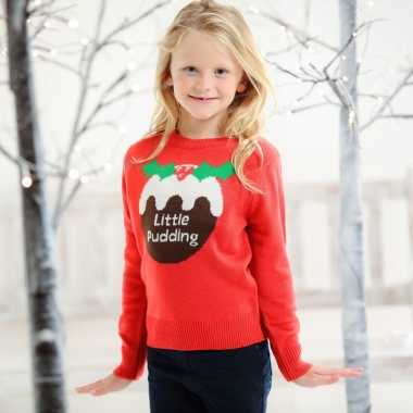 Foute kersttrui cupcake voor kids