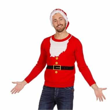 Foute kersttrui kerstmannen pak voor heren