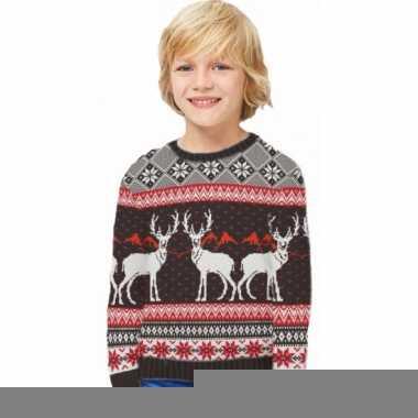 Foute kinder kersttrui happy reindeers