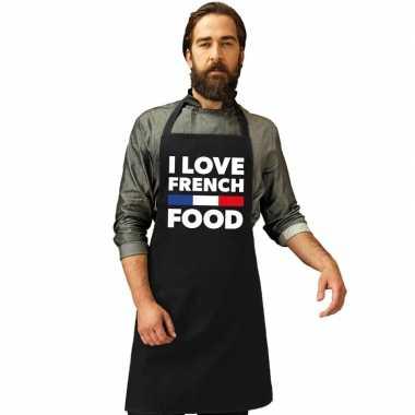 Frankrijk keukenschort i love french food