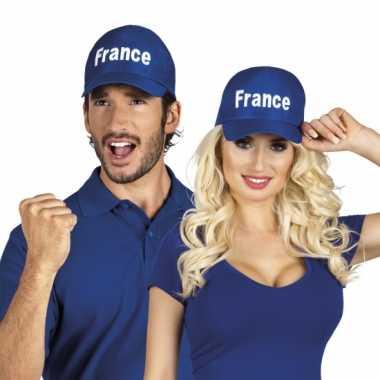Frankrijk supporters petje blauw