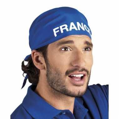Franse blauwe bandana