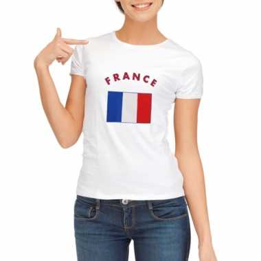 Franse vlag t-shirt voor dames