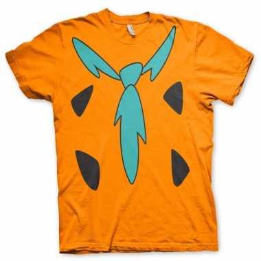Fred flintstone shirt kostuum voor volwassenen