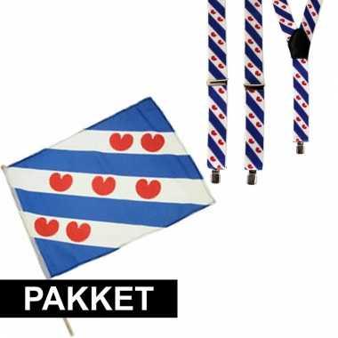 Friese accessoires bretels en zwaaivlag