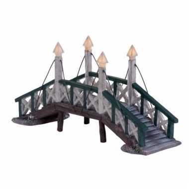 Friese steden kerstdorp accessoire hindeloopen bruggetje met licht