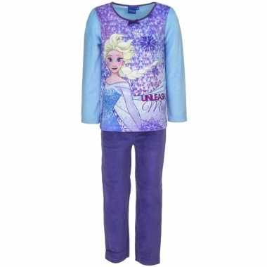 Frozen elsa meisjes pyjama blauw