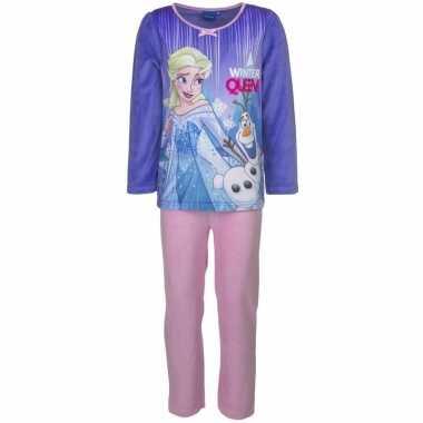 Frozen elsa meisjes pyjama paars